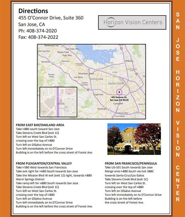 San Jose Directions