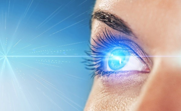 Blue Eyes Sensitive to Light
